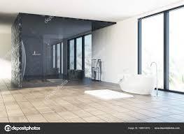 Schwarz Und Weiß Luxus Badezimmer Stockfoto Denisismagilov