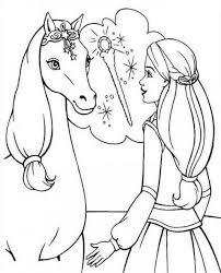 Colorare Cavallo Disegno Barbie E Il Suo Cavallo Magico