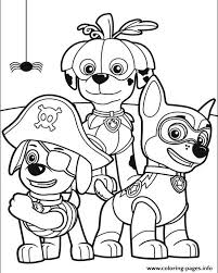 Small Picture Paw Patrol Halloween Coloring Pages Printable
