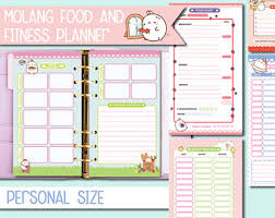 workout and food journal workout log etsy