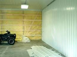 garage interior wall ideas finishing walls material suggestions