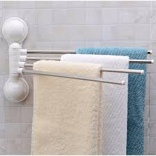 180 Degree Stainless Steel Tube Rotating Towel Bar Bathroom Towel