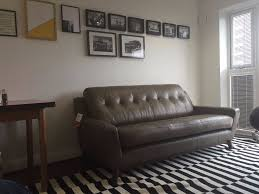 John Lewis Living Room G Plan Vintage Fifty Three 53 Leather Sofa 3 Seater Taupe Olive