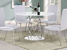 White Round Kitchen Table Kitchen Table Interior White Round Wooden Table With Silver