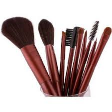 fash uk 2016 series cosmetic brush set with leather pouch nylon 9 piece makeup kiteye