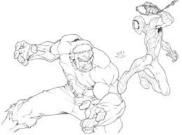 Hulk vs spiderman coloring pages,unexpected fight of the bigest heroes,drawing of superheroes music: Hulk Vs Spidey By Carlosgomezartist On Deviantart