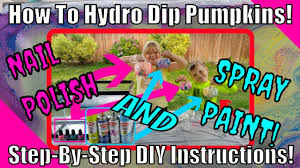 how to hydro dip pumpkins watermarble swirl paint art with nail polish and spray paint