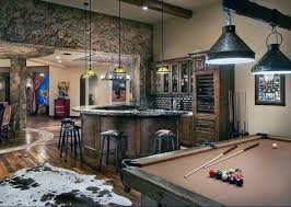 basement ideas for men. Brilliant Men Bar With Pool Table Basement Cool Man Cave Ideas Intended For Men