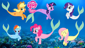 Small Picture MY LITTLE PONY Mane 6 Transforms Into Mermaids MLP Coloring