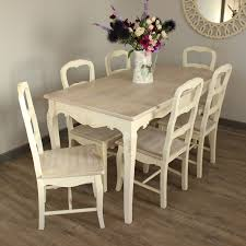 country ash range dining room set cream large dining table and 6 chairs