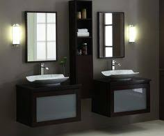 stylish modular wooden bathroom vanity.  Vanity Twin White Sink With Dark Wood Vanities And Cabinet Mirror Of What You Do  On On Stylish Modular Wooden Bathroom Vanity
