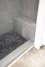 how to grout pebble tile