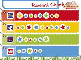 Amazon Com Monkey Chops Reward Chart Star Chart