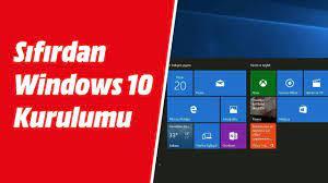 Sıfırdan Windows 10 kurulumu nasıl yapılır? Yeni bilgisayara windows 10  kurulumu nasıl yapılır? - YouTube