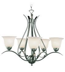 trans globe lighting 9285 bn ribbon branched 5 light 24 inch brushed nickel chandelier ceiling