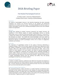 The Student Psychological Contract