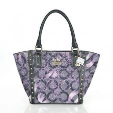 Coach Poppy Stud Medium Purple Totes ASS