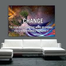 pictures for office. Motivational Wall Art Great Wave Off Change Canvas Framed For Office Pictures