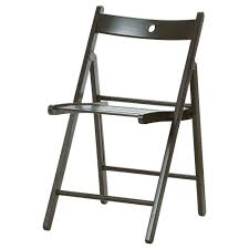Terje Folding Chair Black Ikea