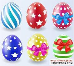 Векторная <b>коллекция</b> ярких пасхальных яиц: писанки, крашенки ...