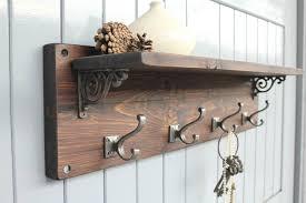 wall mounted coat rack with shelf beautiful 50 modern wall hook rack ideas