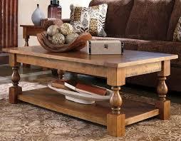 simple distressed wood coffee table