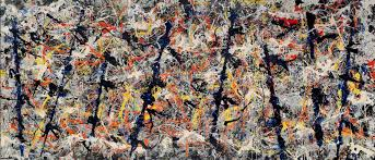 abstract expressionism the view from the top by richard dorment  jackson pollock blue poles 1952 click image to enlarge