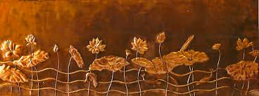 large lotus copper panel wall art by sooriya kumar on lotus panel wall art with large lotus copper panel wall art by sooriya kumar sooriya art