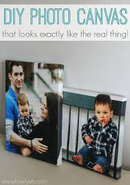 diy photo canvas that looks real with wrapped edges and canvas texture