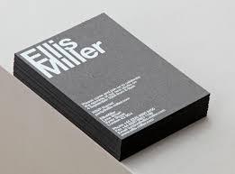 Ellis Miller architects - Business Cards by Cartlidge Levene