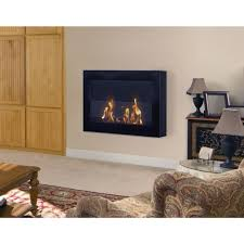 anywhere fireplace soho 28 in wall mount vent free ethanol fireplace in black