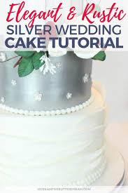 Elegant Rustic Silver Wedding Cake I Scream For Buttercream