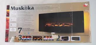 new 42 muskoka curved wall mount electric fireplace heater la1928 reviews