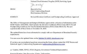 fema form important information about femas new elevation certificate flood