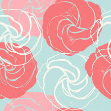 Beautiful Endless Pattern With Cute Roses Elegant Texture With