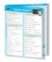 I Chart Math Calculus Integrals I Ii Quick Reference Guide Bundle