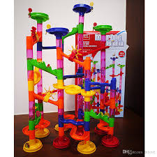 marble run coaster diy building blocks marble race diy constructing maze toy for all family classic endless track fun kit educational kids toys kids