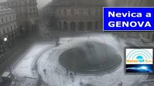 Meteo DIRETTA: FITTA NEVICATA SU GENOVA - MeteoTopNews