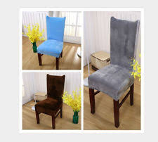 stretch short chair seat covers fox velvet fabric dining room wedding home