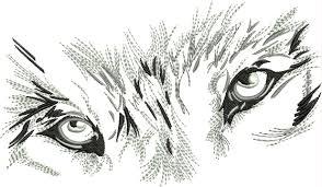 Eyes Embroidery Design Bin Wolf Eyes Wolf Eyes Machine Embroidery Creative