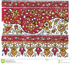 Textile Designs Pictures Indian Traditional Textile Design Stock Illustration