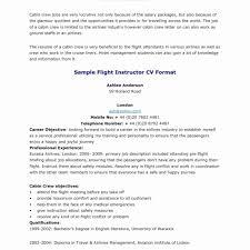 Resume For A Flight Attendant Sample Flight Attendant Resume