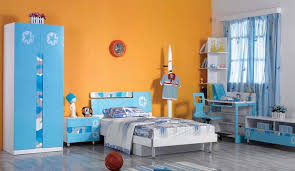 furniture paint color ideas. Childrens Bedroom Wiith Blue Furniture And Orange Wall Paint Color Ideas
