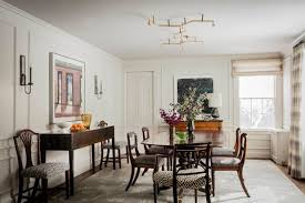 transitional dining room by elms interior design