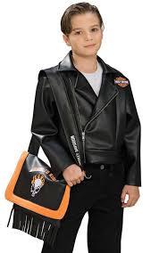 child s black harley davidson jacket biker costume size small