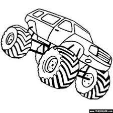 Small Picture Bigfoot Monster Truck Coloring Page Free Printable Coloring