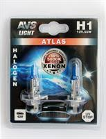 """<b>Лампа</b> галоген"""" <b>ATLAS H1</b>"""" 12В 55Вт, 2шт <b>AVS</b> A78564S ..."""