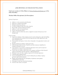 Resume For Medical Receptionist Medical Receptionist Resume Sample With No Experience Http Www 20