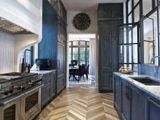 Chevron Floor in Small Kitchen 8 Photos
