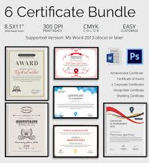 creative custom certificate design templates premium creative certificate bundle